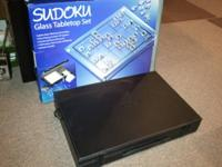 Sharper Image Sudoku Glass Tabletop Set Game CG100.