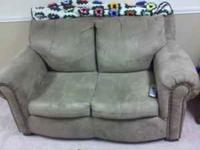 tan suede couch and love seat very little use on it