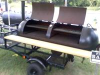 BBQ TRAILER GRILL! Tailgate Time! 250 gallon tank