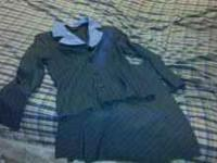 Suit $30 skirt/shirt 20. size 8. In good condition.