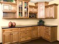 Brand new SOLID wood maple cabinets. Never installed,