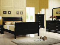 6pcs Louis Philip Full size Sleigh Bedroom Set for ONLY