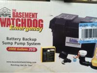 The basement watchdog emergency sump pump, never used