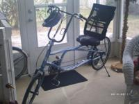 Blue 27 speed Sun EZ Sport Recumbent