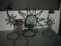 "I'm selling my vintage Metal and Glass ""Sun God"" Candle"