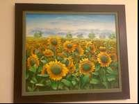 Sun Flower Picture for Sale. 25L X 29W. For any further