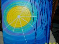 Original interpretative art painting on canvas of the