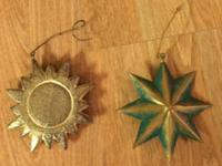 You will receive 2 hanging decorations or ornaments,