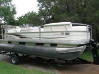2006 TRACKER 21 FOOT PONTOON with updated 90 steed