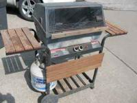 Sunbeam Gas Grill with tank. Tank, alone, is worth $25.