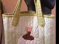 * This Tote is COMPLETELY HAND QUILTED - One of a