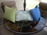 Sunbrella Outdoor Pillows. Purchased last year from