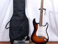 We have 2 Sunburst Fender Starcaster guitars, both have