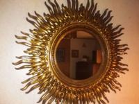 Mid 19th. century Belgium sunburst mirror replica .A