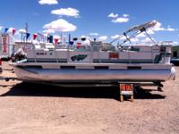 1991 Suncruiser Sunshine 16-foot pontoon with near-new