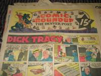 Denver Post Comic Roundup Sunday, 1/10/1954, Original