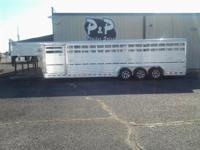 This is an extra heavy duty all aluminum stock trailer