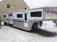 This is an all aluminum 4 steed, go to head trailer
