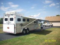 1998 Sundowner Siesta aluminum steed trailer with