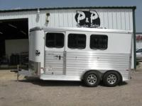 2015 ALL ALUMINUM Sundowner 3 horse trailer has drop
