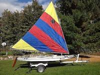Have some great summer fun with a Sunfish Sailboat! 16'