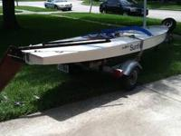 Sunfish AMF 83 fully loaded, trailer and dolly. Rigged