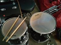Sunlite 5 Piece Drumset with stands, pedals, sticks and