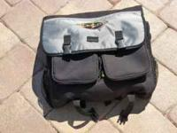 Sunlite bike bag with many pockets. Was used on