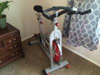 Selling our spin bike in excellent shape. Comes with