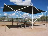 This free standing Sunshade offers protection anywhere