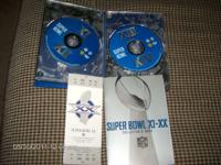 super bowl xi-xx collectors set--DVD of 10 super bowls