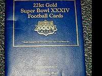 Danbury Mint Super Bowl XXXIV St. Louis Rams 22K Gold