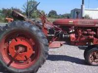 This Super C Farmall has a 3pt hitch and is in good