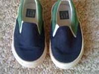 Super cute pair of Baby Gap slip-on sneakers, size 6,