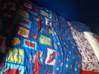 Offering this 10 pc boy's / children twin bed linen.