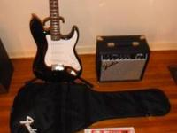 Complete setup! Fender Stratocaster Squire in mint