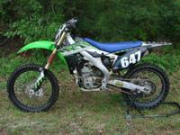 2013 Kawasaki KX250F. Excellent condition, STRONG