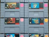 I have the following super Nintendo and Nintendo  games