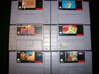 Have 6 Super Nintendo games that work. Would be willing