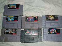 hello i got some snes game i want to sell read