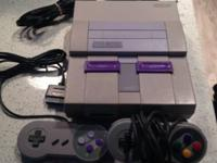 Hello,  I am selling my Super Nintendo that comes with