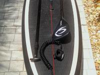 This stunning SUP is extremely light. The board is