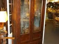 Super carved tiger oak closet ... double beveled