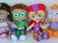 Four plush Super Why figures for sale. Includes Super