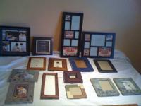 Super nice ollection of photo picture frames Silver Fun