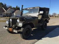 SUPERBLY 1953 WILLYS ARMY JEEP M38A1 IN GREAT