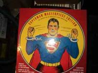 "Set includes. 8"" Statue of 1938 Superman, Reprint of"
