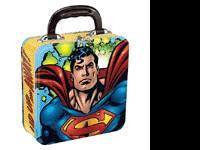$20.00 Superman Square Tin Tote # 10016258 BaLu's E