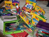 We have accumulated a few boxes of new crayons, new