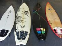 I have for sale 4 surfboards all surfboards prepare to